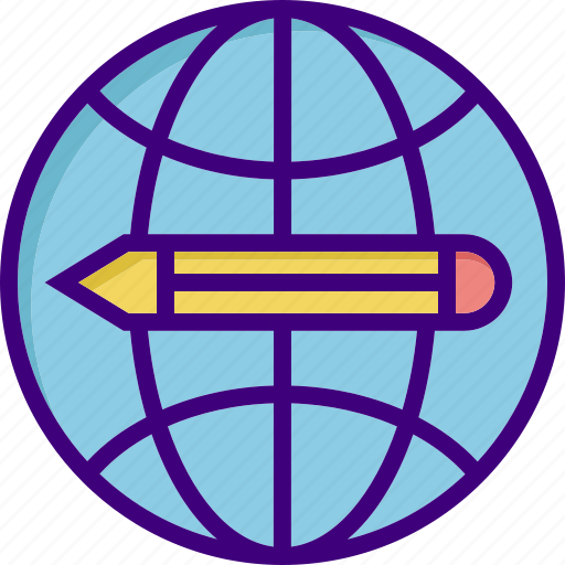 edit, education, education for all, learn, learning, pencil, study icon