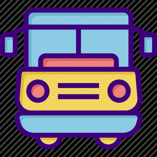 bus, school bus, transport, transportation, travel, van, vehicle icon