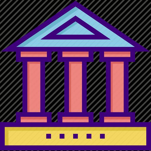 bank, building, campus, college, history, university, university campus icon