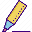 highlighter, ink, ink marker, marker, pencil, write, writer icon