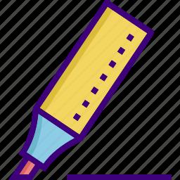 highlighter, ink, ink marker, marker, pencil, write, writer icon