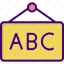 abc, board, graph, presentation, report, sign, study icon