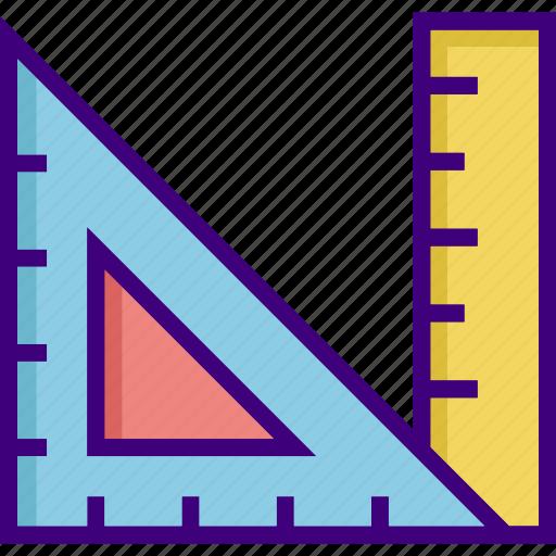 drawing, geometric, geometry, ruler, scale, shape, triangle icon