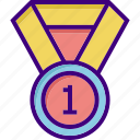 award, medal, one, prize, win, winner, winning icon