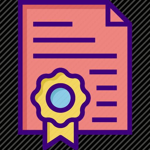 achievement, award, certificate, degree, diploma, education, graduation icon