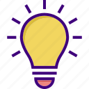 bright, bulb, creative, creative idea, electric bulb, idea, light icon