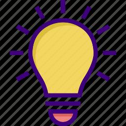 bright, bulb, creative, creative idea, electric bulb, idea, light icon