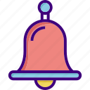 alarm, alert, bell, christmas, notification, ring, school bell icon