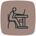 computer, laptop, mac, macbook, technology, using, using laptop icon
