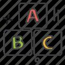 blocks, education, learning, school, teaching, university icon
