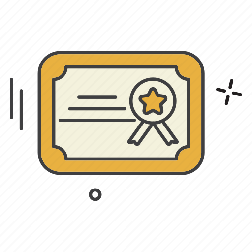 certificate, school, student, university icon