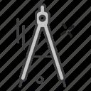 compass, school, teaching, university icon