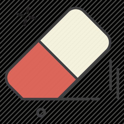 eraser, school, student, study, teaching icon