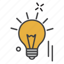 bulb, education, idea, learning, student icon