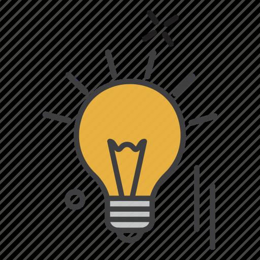 bulb, education, idea, learning, student icon