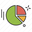chart, pie, study, teaching icon