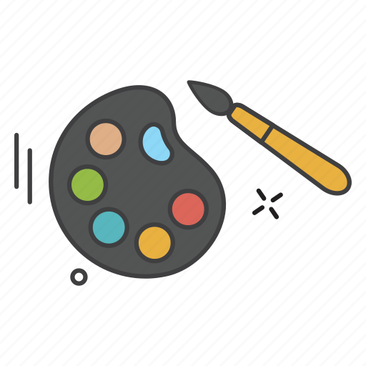 color, learning, paint, teaching, water icon