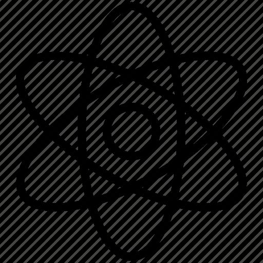 atom, chemistry, education, experiment, laboratory, physics, science icon icon