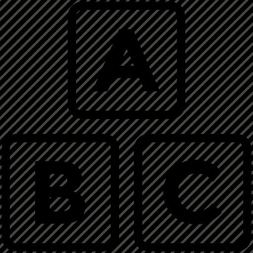 abc, abc blocks, alphabet, alphabet blocks, blocks, cubes icon icon