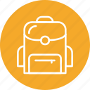 bag, education, school, student icon