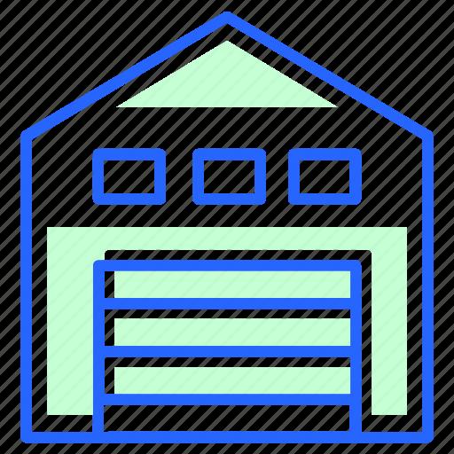 Warehouse, storage, store icon