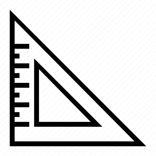 education, ruler, school, triangle, triangle ruler icon