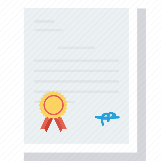 certificate, contract, degree, diploma, document, license, patent icon icon