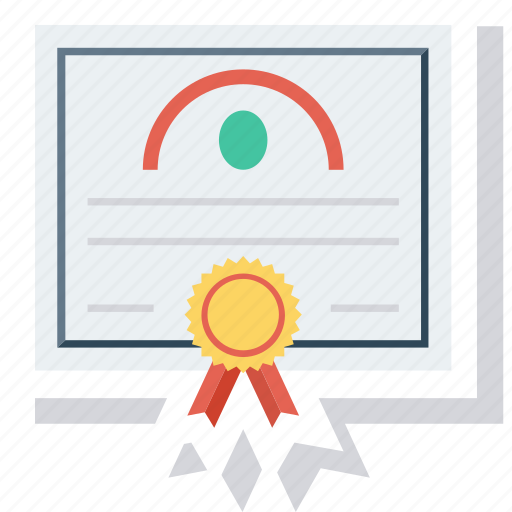certificate, diploma, documents, education icon icon