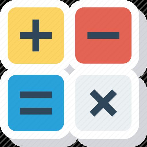 calculate, calculation, calculator, math icon icon