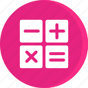 calculator, education, educational, school, schooling, science, study icon