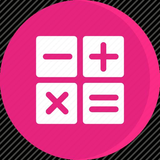 calculator, education, educational, school, schooling, science, study icon