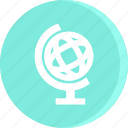 education, educational, globe, school, schooling, science, study icon