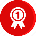 award, badge, education, first, place, school, study icon