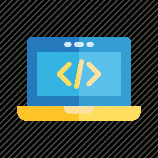 code, computer, it, laptop, programming, school, subject icon