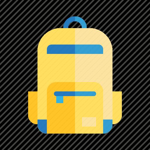 Backpack, bag, education, school, travel icon - Download on Iconfinder