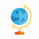 earth, geography, globe, map, school, subject icon