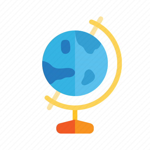 Earth, geography, globe, map, school, subject icon - Download on Iconfinder