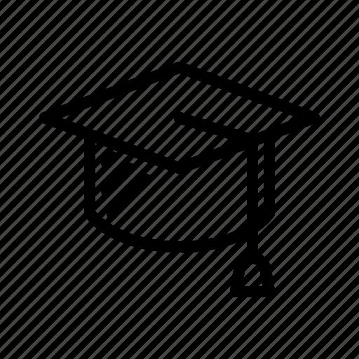 Cap, graduate, graduation, hat, school, ceremony, toga icon - Download on Iconfinder