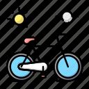 cycling, school, sport icon