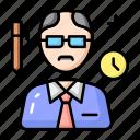 education, professor, school icon