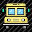 bus, school, transport