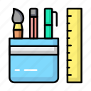 education, school, stationery