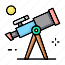 school, space, telescope icon