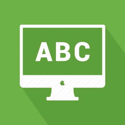 abc, computer, desktop, imac, monitor icon