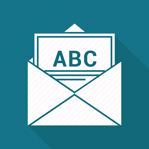 abc, email, mail, open icon