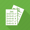 document, paper, split test, test icon