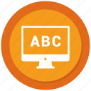 abc, analytics, graph, grow, monitor icon