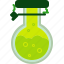 chemical, flacon, laboratory, reaction, reagent, science, vessel icon