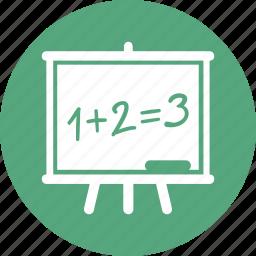 education, math, school blackboard icon