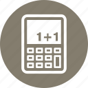 calculator, education, math icon